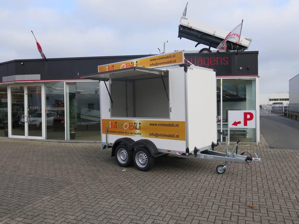 Proline maatwerk verkoopwagen 303x150x200cm 2500kg speciaalbouw Aanhangwagens XXL West Brabant zijkant open