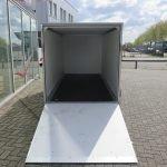 Easyline gesloten ballonwagen 350x140x145cm 1500kg speciaalbouw Aanhangwagens XXL West Brabant achterkant geopend