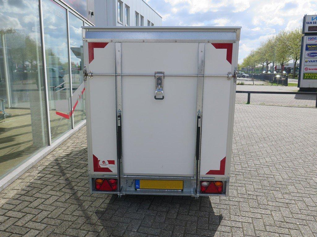 Easyline gesloten ballonwagen 350x140x145cm 1500kg speciaalbouw Aanhangwagens XXL West Brabant achterkant gesloten
