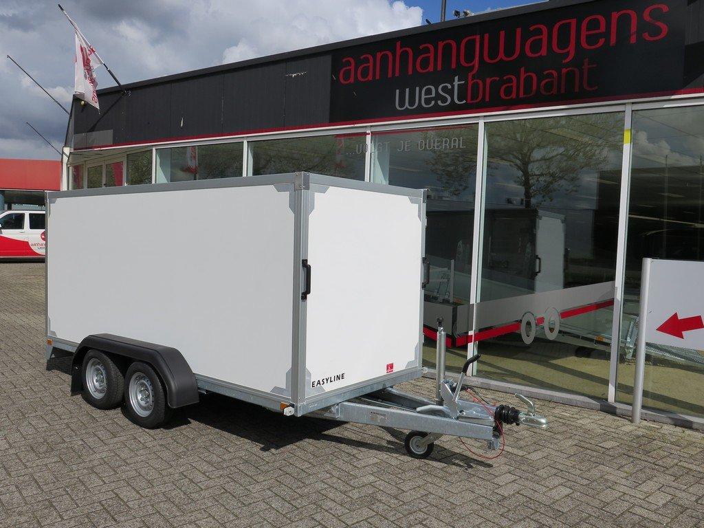 Easyline gesloten ballonwagen 350x140x145cm 1500kg speciaalbouw Aanhangwagens XXL West Brabant voorkant schuin