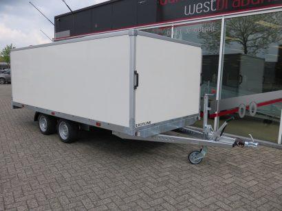 Easyline gesloten les aanhanger 601x201xvariabel les aanhangwagens Aanhangwagens XXL West Brabant voorkant schuin
