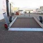 Humbaur motortrailer 280x175cm 1350kg zakbaar Aanhangwagens XXL West Brabant 2.0 achter gezakt