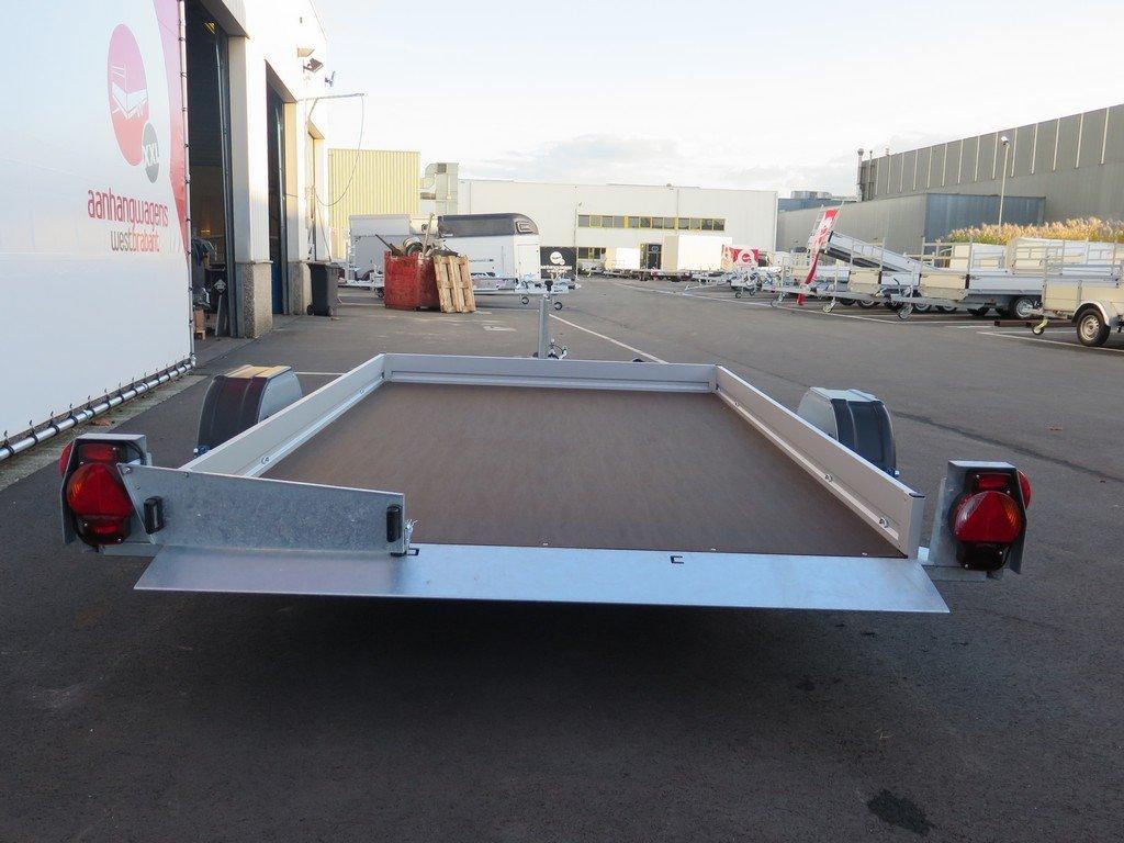 Humbaur motortrailer 280x175cm 1350kg zakbaar Aanhangwagens XXL West Brabant 2.0 achter vlak