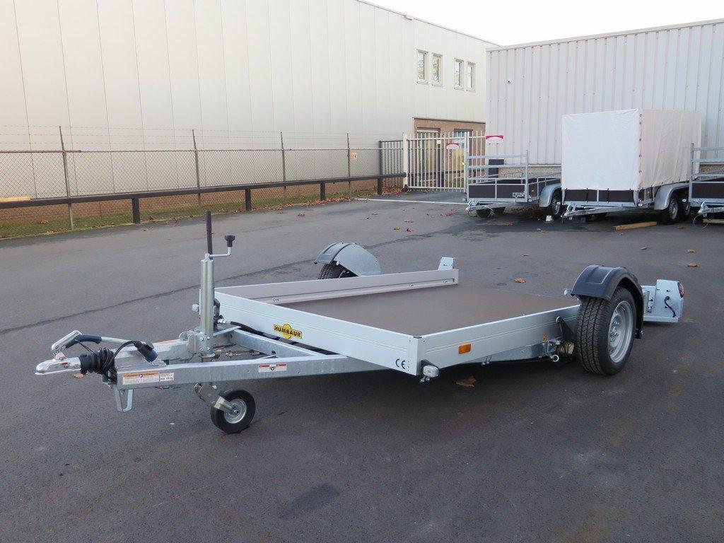 Humbaur motortrailer 280x175cm 1350kg zakbaar Aanhangwagens XXL West Brabant 2.0 overzicht