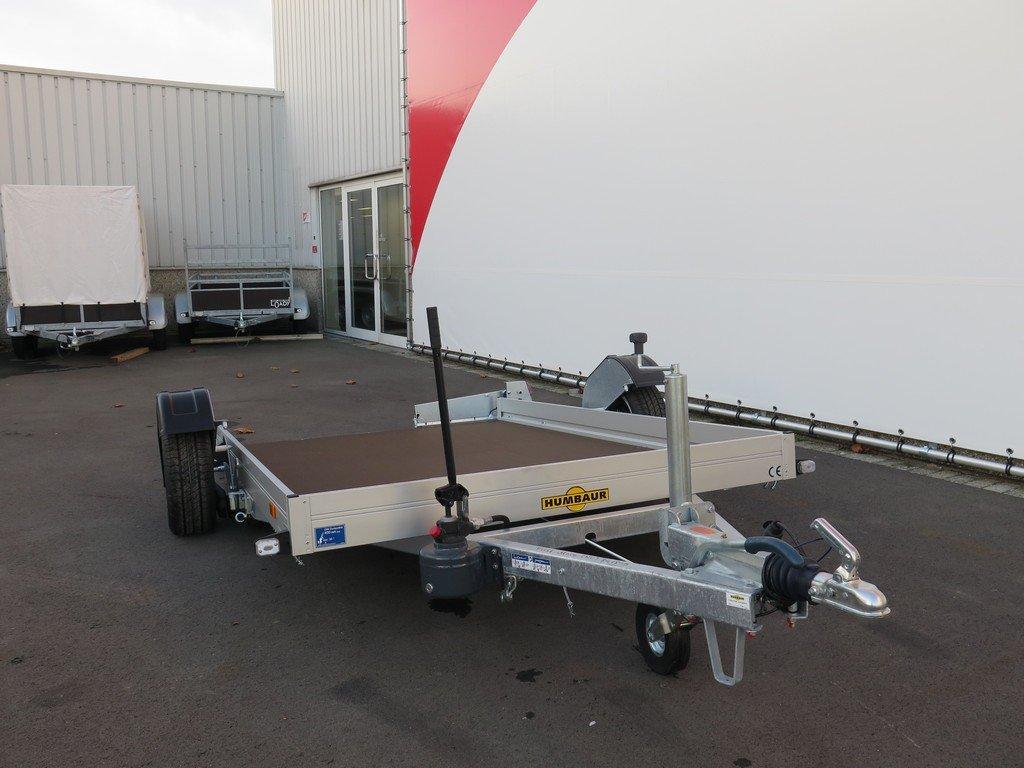 Humbaur motortrailer 280x175cm 1350kg zakbaar Aanhangwagens XXL West Brabant 2.0 voorkant
