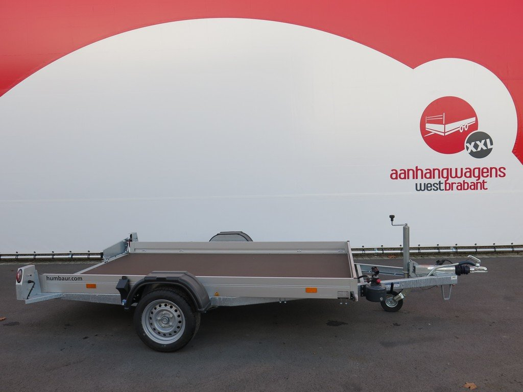 Humbaur motortrailer 280x175cm 1350kg zakbaar Aanhangwagens XXL West Brabant 2.0 zijkant vlak