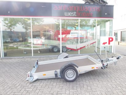 Humbaur zakbare motortrailer 250x156cm 1350kg Aanhangwagens XXL West Brabant gezakt