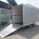 Proline gesloten aanhanger 425x204x230cm 2600kg Aanhangwagens XXL West Brabant achter open
