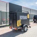 Maatwerk Easyline gesloten evenementenwagen Aanhangwagens XXL West Brabant achterkant Aanhangwagens XXL West Brabant