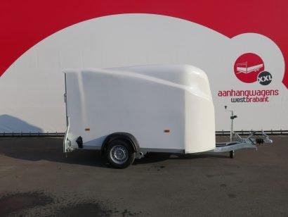 Easyline gesloten aanhanger 300x151x170cm 1300kg wit Aanhangwagens XXL West Brabant 2.0 hoofd