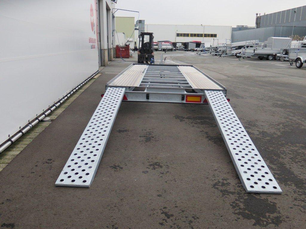 Proline Silverstone autotransporter 450x210cm 2700kg Proline autotransporter 450x210cm 2700kg Aanhangwagens XXL West Brabant achterkant