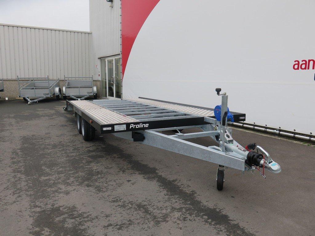 Proline Silverstone autotransporter 450x210cm 2700kg Proline autotransporter 450x210cm 2700kg Aanhangwagens XXL West Brabant voorkant