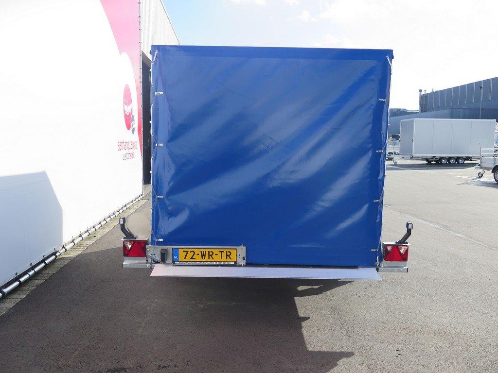 Proline motortrailer 314x180x170cm 1500kg zakbaar met huif Aanhangwagens XXL West Brabant achter dicht Aanhangwagens XXL West Brabant