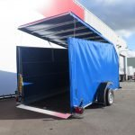 Proline motortrailer 314x180x170cm 1500kg zakbaar met huif Aanhangwagens XXL West Brabant oprijden Aanhangwagens XXL West Brabant