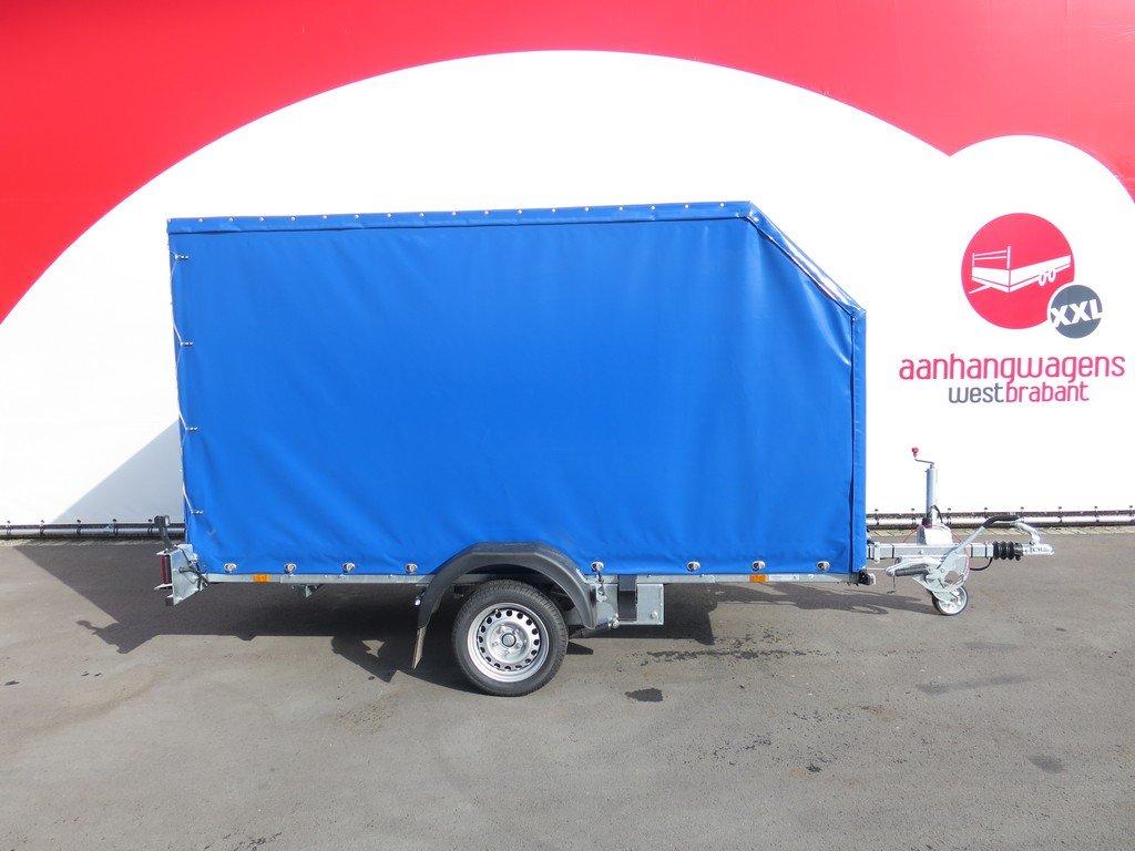 Proline motortrailer 314x180x170cm 1500kg zakbaar met huif Aanhangwagens XXL West Brabant zijkant Aanhangwagens XXL West Brabant