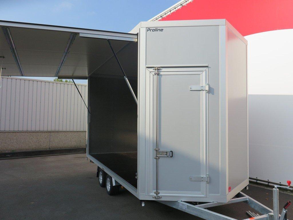 Proline gesloten aanhanger 425x204x250cm 3000kg Aanhangwagens XXL West Brabant voorkant open