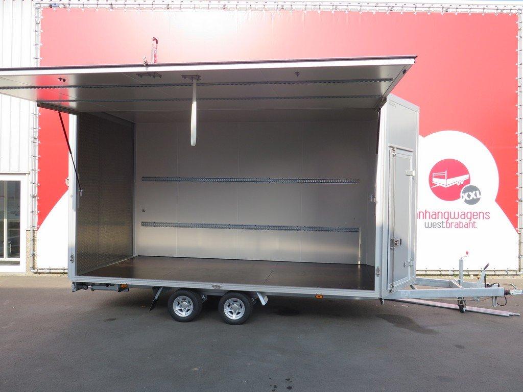 Proline gesloten aanhanger 425x204x250cm 3000kg Aanhangwagens XXL West Brabant zijklep