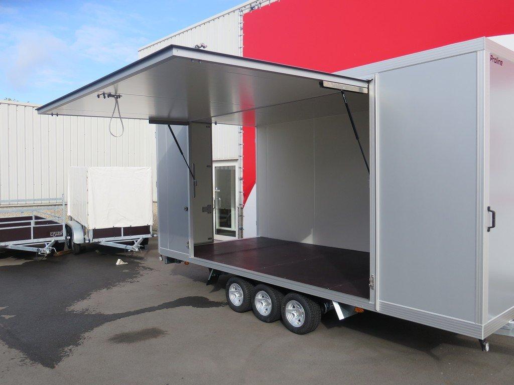 Proline gesloten aanhanger 485x204x210cm 3500kg tridemas Aanhangwagens XXL West Brabant zijklep Aanhangwagens XXL West Brabant