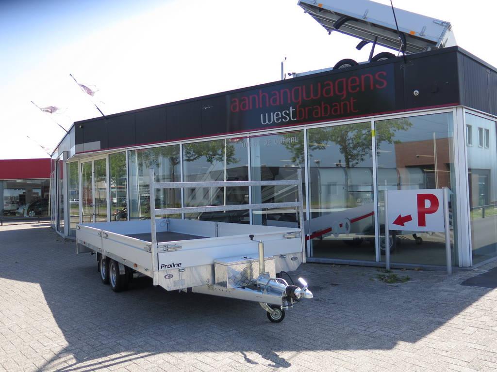 Proline plateauwagen 503x222cm 3500kg verlaagd Proline plateauwagen 503x220cm 3500kg verlaagd Aanhangwagens XXL West Brabant overzicht