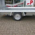 Hulco machinetransporter 300x150cm 1500kg Basic Aanhangwagens XXL West Brabant 2.0 zijkant Aanhangwagens XXL West Brabant