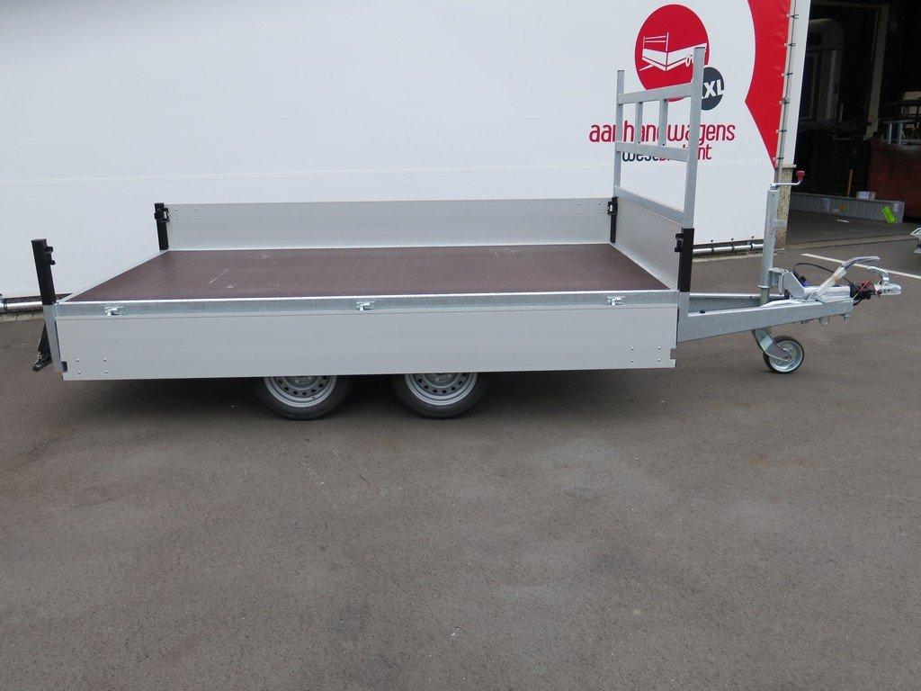 Proline plateauwagen 301x155cm 2850kg Proline plateauwagen 301x155cm 2700kg Aanhangwagens XXL West Brabant 2.0 zijkant open