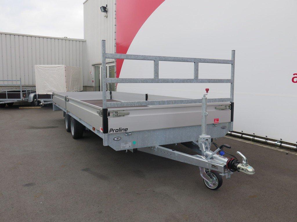 Proline plateauwagen 603x202cm 3500kg verlaagd Aanhangwagens XXL West Brabant 2.0 voorkant Aanhangwagens XXL West Brabant