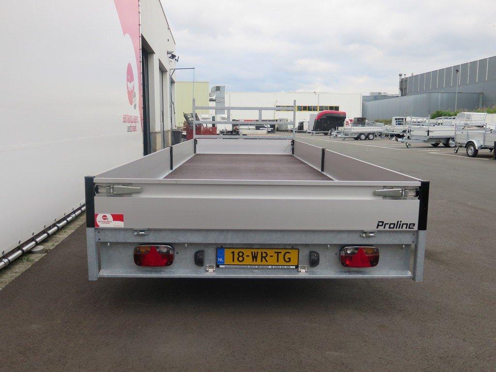 Proline plateauwagen 603x222cm 2700kg verlaagd Aanhangwagens XXL West Brabant 2.0 achterkant Aanhangwagens XXL West Brabant