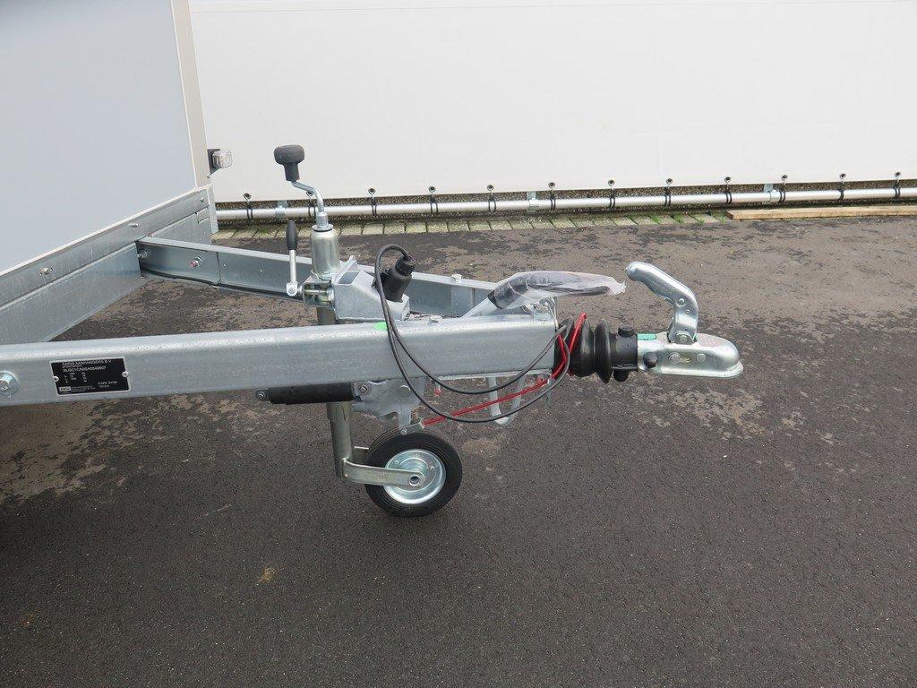 Saris gesloten aanhanger 256x134x150cm 1350kg grijs Aanhangwagens XXL West Brabant dissel Aanhangwagens XXL West Brabant