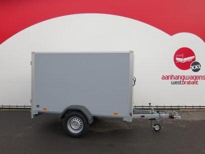 Saris gesloten aanhanger 256x134x150cm 1350kg grijs Aanhangwagens XXL West Brabant hoofd