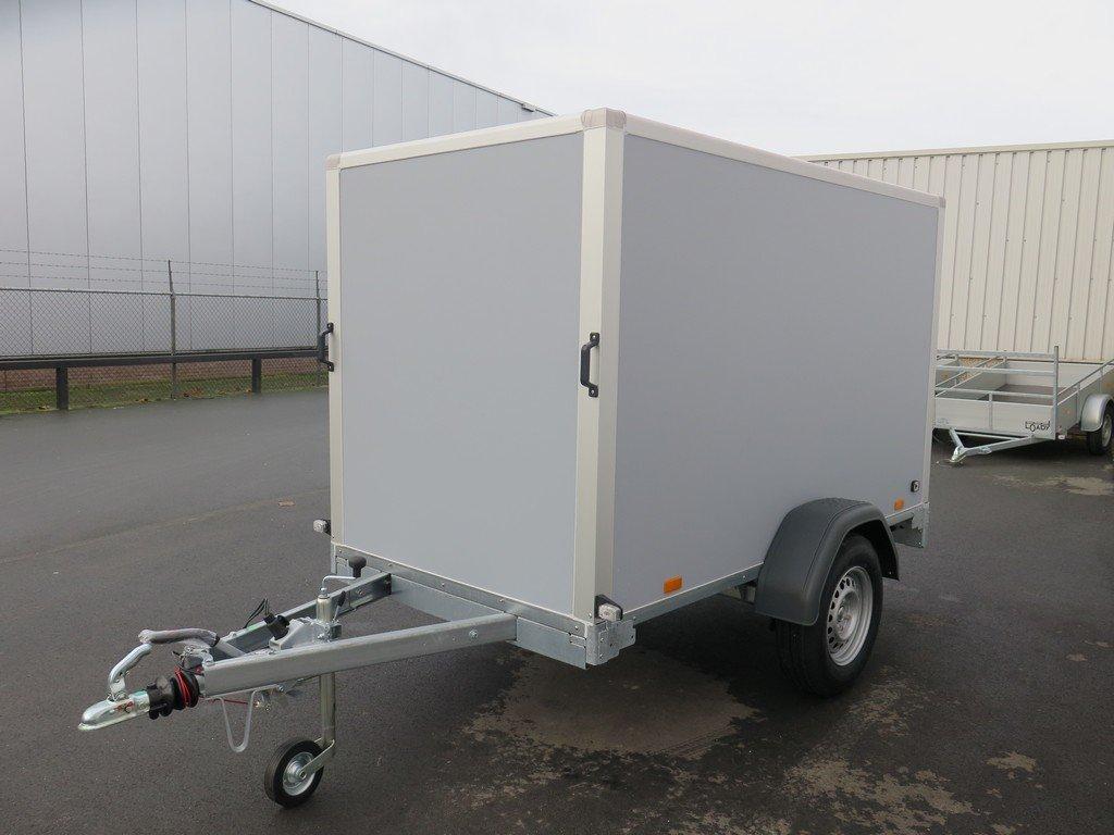 Saris gesloten aanhanger 256x134x150cm 1350kg grijs Aanhangwagens XXL West Brabant zijkant Aanhangwagens XXL West Brabant