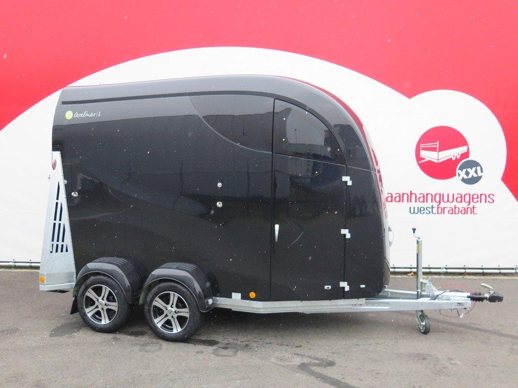 Bucker Careliner L poly 2 paards paardentrailer zwart-zwart Aanhangwagens XXL West Brabant hoofd Aanhangwagens XXL West Brabant