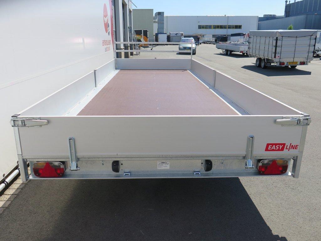 Easyline tridemas plateauwagen 605x220cm 3500kg